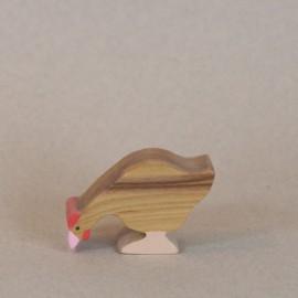 Poule en bois (picorant)