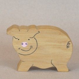 Cochon en bois